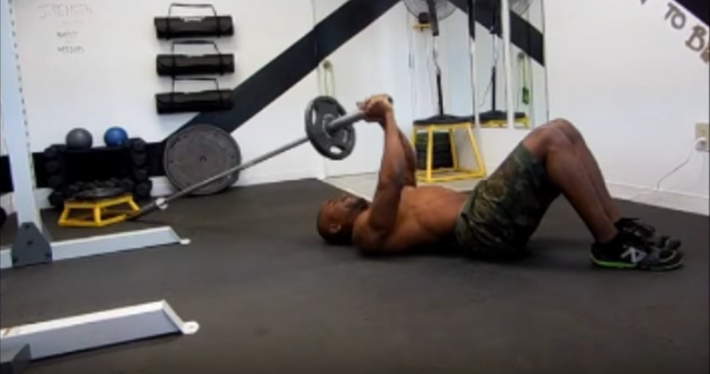 Close Grip Floor Press with Barbell Lever