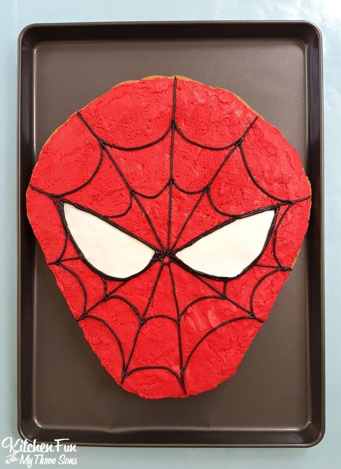Spider Man Cookie Cake